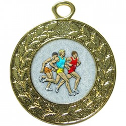 Gold Male Athlete Medal 45mm