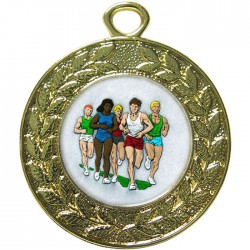 Gold Marathon Medal 45mm