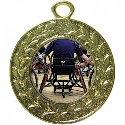 Gold Wheelchair Basketball Medal 45mm