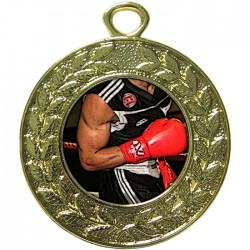 Gold Boxing Medal 45mm