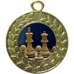Gold Chess Medal 45mm