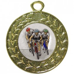 Gold Cycling Medal 45mm