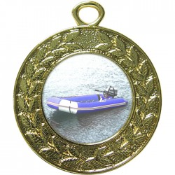 Gold Rubber Dinghy Medal 45mm
