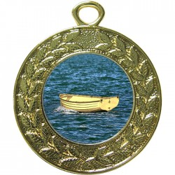Gold Wooden Dinghy Medal 45mm