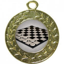 Gold Draughts Medal 45mm