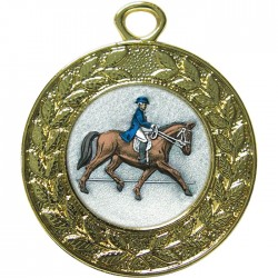 Gold Dressage Medal 45mm