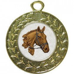 Gold Equestrian Medal 45mm
