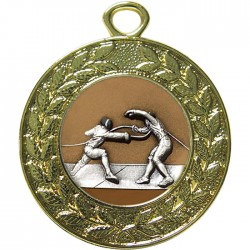 Gold Fencing Medal 45mm