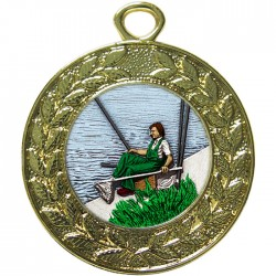 Gold Fishing Medal 45mm