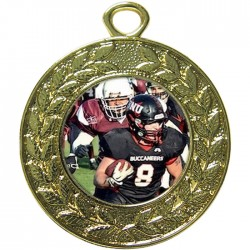 Gold American Football Medal 45mm
