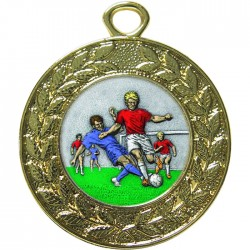 Gold Male Football Medal 45mm