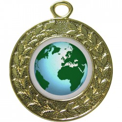 Gold Globe Medal 45mm