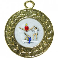 Gold Female Gymnastics Medal 45mm