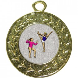 Gold Gymnastics Floor Medal 45mm