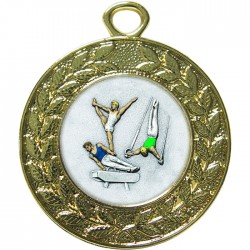 Gold Male Gymnastics Medal 45mm