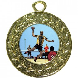 Gold Handball Medal 45mm