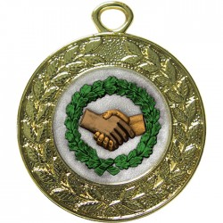 Gold Handshake Medal 45mm