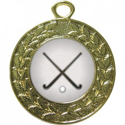 Gold Hockey Medal 45mm