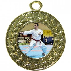 Gold Karate Medal 45mm