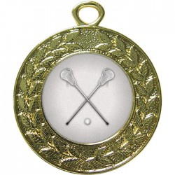 Gold Lacrosse Medal 45mm