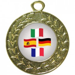 Gold Languages Medal 45mm
