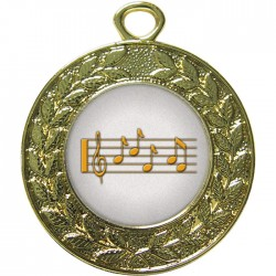 Gold Music Medal 45mm
