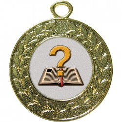 Gold Quiz Medal 45mm