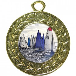 Gold Sailing Medal 45mm