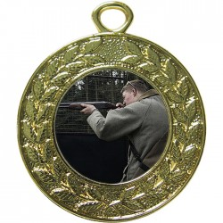 Gold Clay Pigeon Shooting Medal 45mm