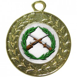 Gold Small Bore Rifle Shooting Medal 45mm