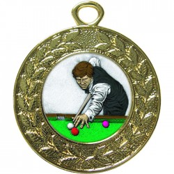 Gold Snooker Medal 45mm