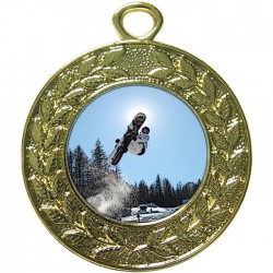 Gold Snowboarding Medal 45mm