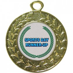 Gold Sports Day Runner Up Medal 45mm