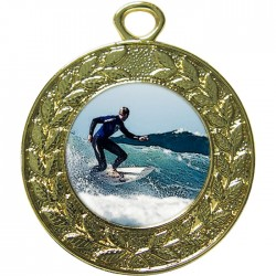 Gold Surfing Medal 45mm