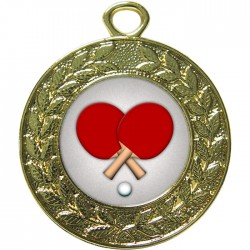 Gold Table Tennis Medal 45mm