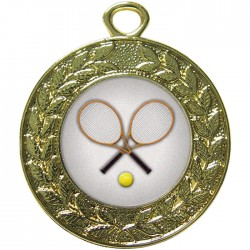 Gold Tennis Medal 45mm