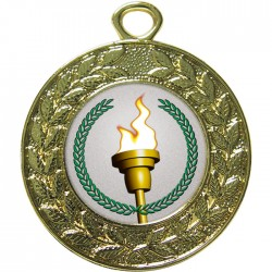 Gold Victory Torch Medal 45mm