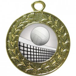 Gold Volleyball Medal 45mm