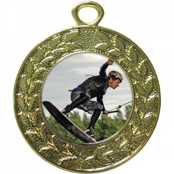 Gold Wake Boarding Medal 45mm