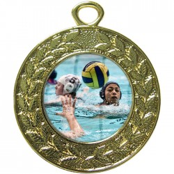 Gold Water Polo Medal 45mm