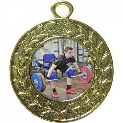 Gold Weightlifting Medal 45mm
