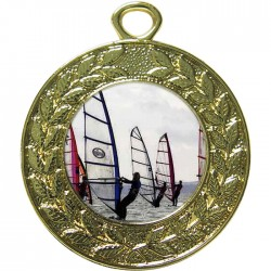 Gold Windsurfing Medal 45mm