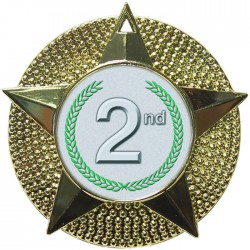 Gold 2nd Place Medal 48mm