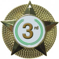 Gold 3rd Place Medals 48mm