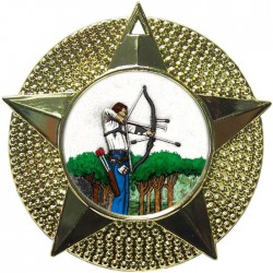 Gold Archery Medal 48mm