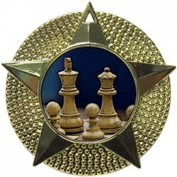 Gold Chess Medal 48mm