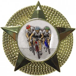 Gold Cycling Medal 48mm