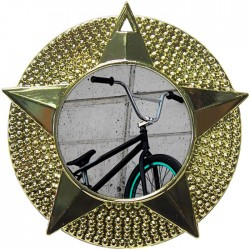 Gold BMX Medal 48mm