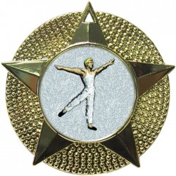 Gold Male Dance Medal 48mm
