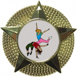 Gold Street Dance Medal 48mm